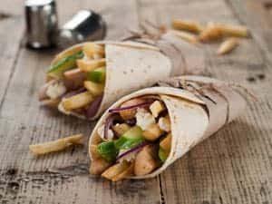 Wrap mit Avocado und Putenbrust